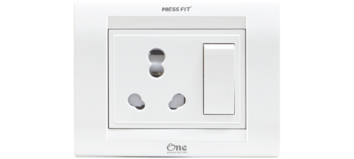Press Fit One 3-in-1 6/16 Amp. S.S. Combined Universal Socket