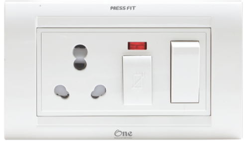 Press Fit One 5-in-1 6/16 Amp. S.S. Combined Universal Socket