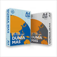 Dunia Mas High-quality, Reliable Copy Paper for Everyday Use  A4 Size Paper