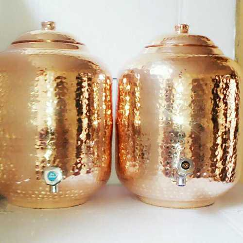 Copper Hammered Water Matka