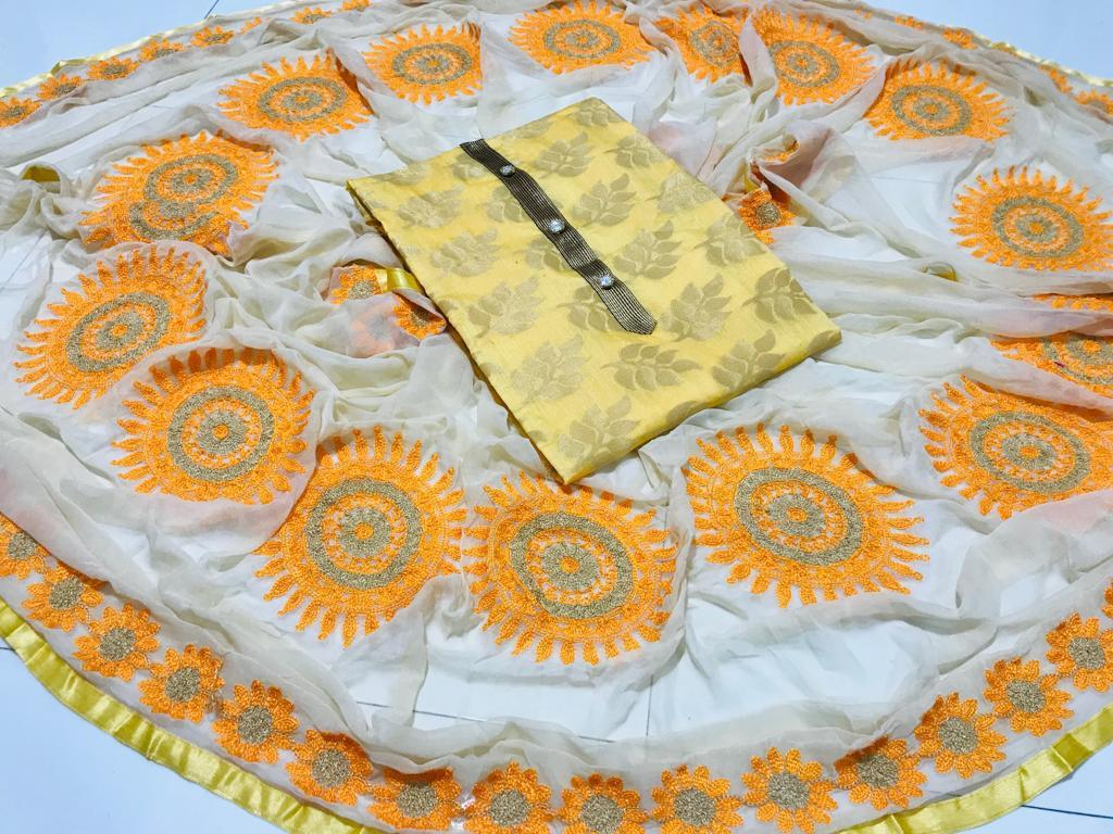 Banarasi Jacquard Dress Material