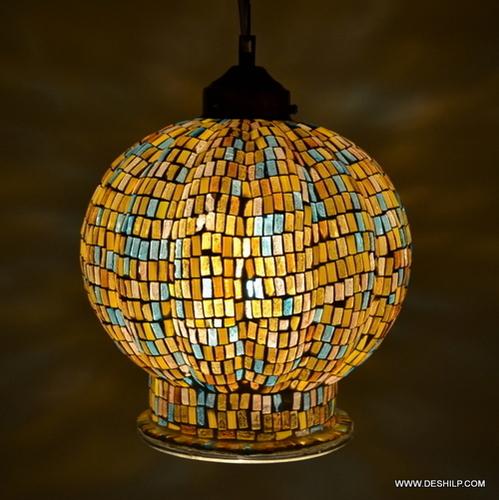 Mosaic Glass Decor Wall Hanging Lamp