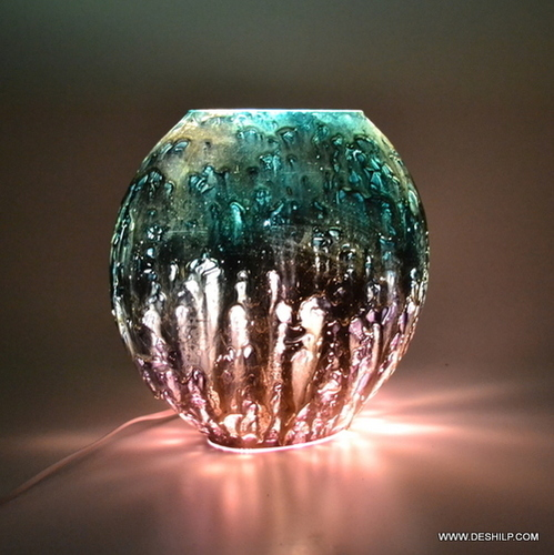 Mercury Antiqued Glass Table Lamp