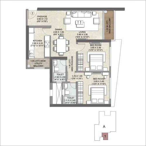 2 BHK Apartment Property Consulting Service
