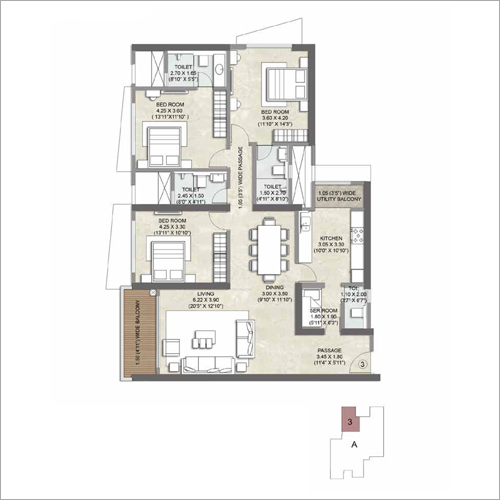 3 BHK Flat Property Consulting Service