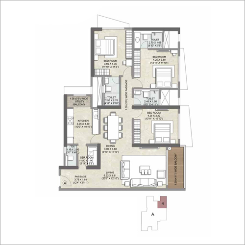 3 BHK Apartment Property Consulting Service