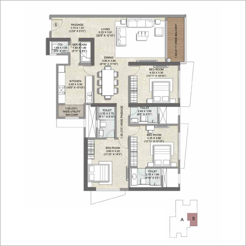 3 BHK Apartment Flat Property Consulting Service