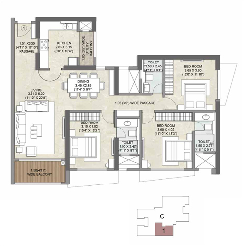 3 BHK Residential Apartment Property Consulting Service