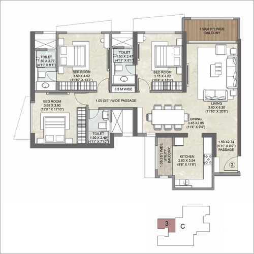 Commercial 3 BHK Apartment Property Consulting Service