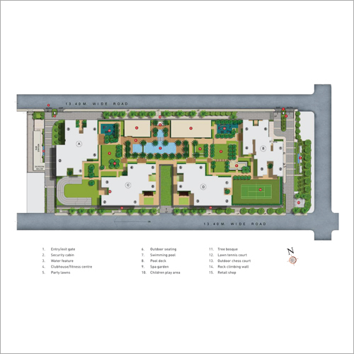 Complex Layout Real Estate Consulting Service