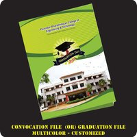 Customised Multicolour Convocation File