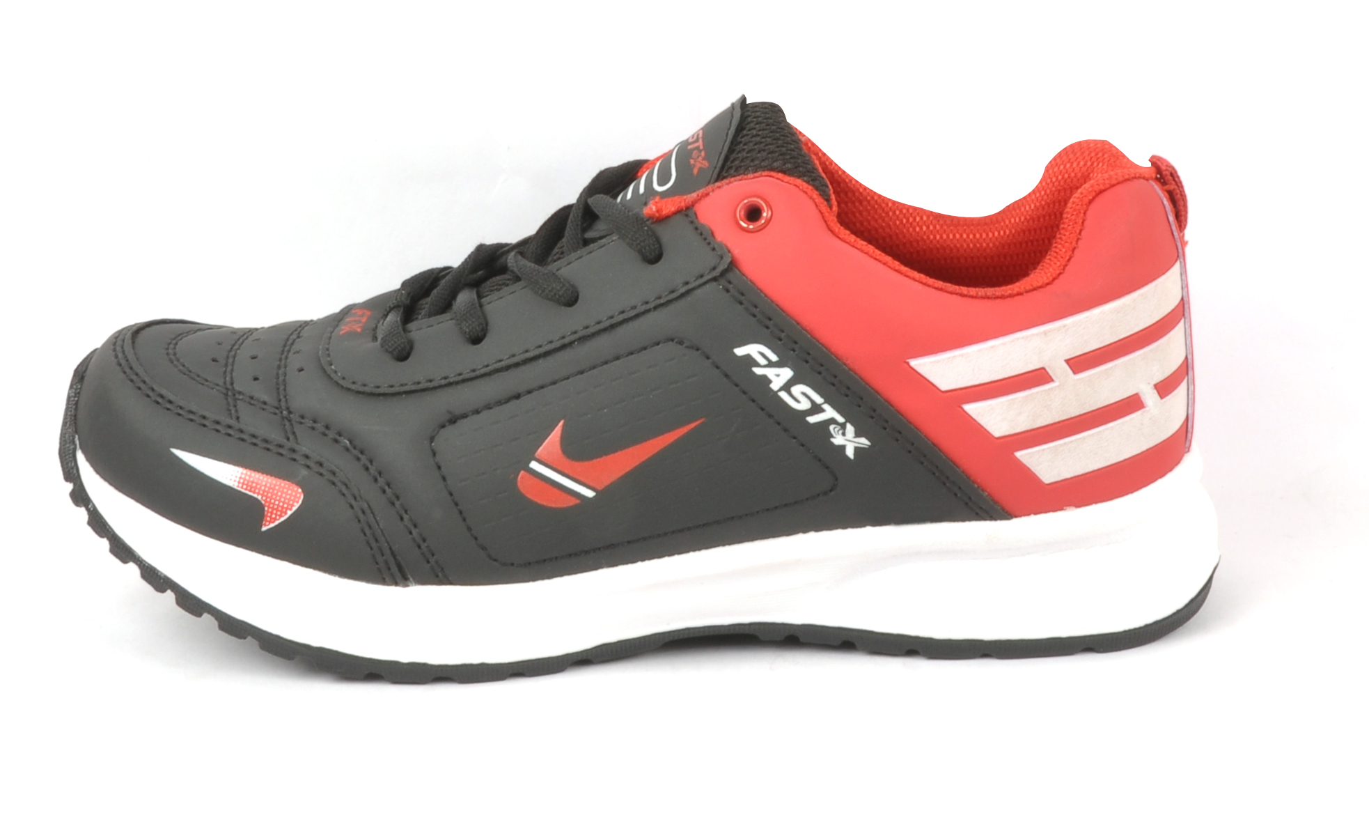 Black & Red Rome Sports Shoes