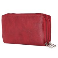 Ladies Leather Zipper Wallet