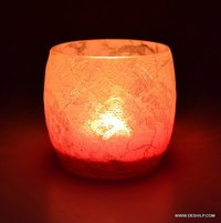 GLASS CANDLE WITH T LIGHT CANDLE