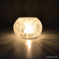 SPLENDID WHITE GLASS T LIGHT CANDLE