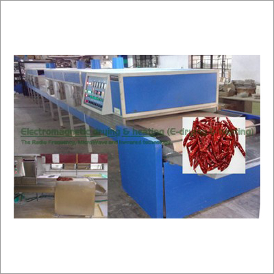 Chili Electromagnetic Conveyorised Drying-Sterilization System