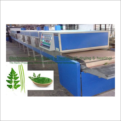 Moringa Leaves Electromagnetic Conveyorised Drying-Sterilization System