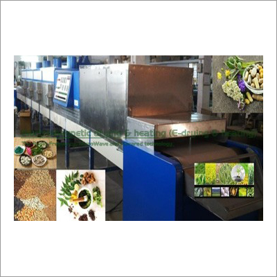 Herbal Leaves Powder Electromagnetic Conveyorised Drying-Sterilization System