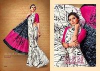Satin Silk Print Sarees