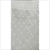 Ladies White Chikankari Saree