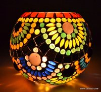 Mosaic Glass Candle Holder Home Decor Gift Items For Home
