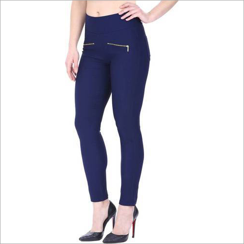 Ladies Blue Color Jegging