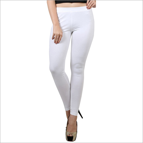Ladies White Colour Legging