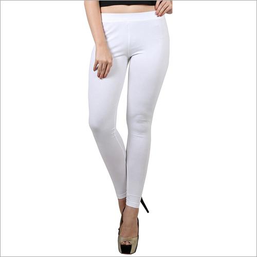 Ladies White Colour Legging