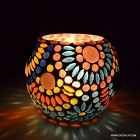 Handicraft Home Decor Gift Handcrafted Glass Candle Holder