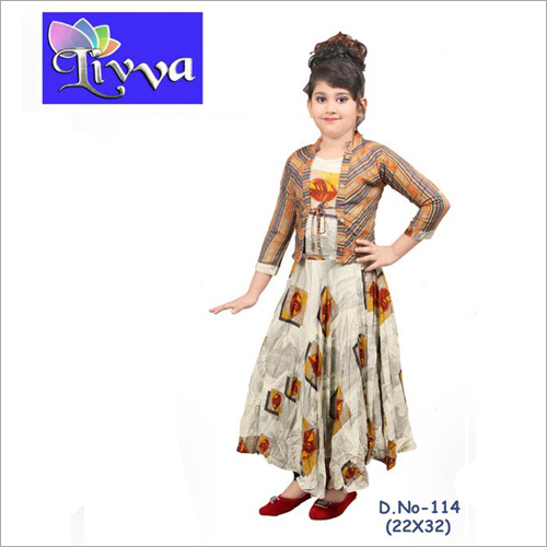 Kids Printed Long Kurti