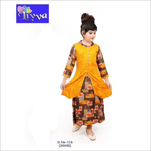Kids Fancy Long Kurti