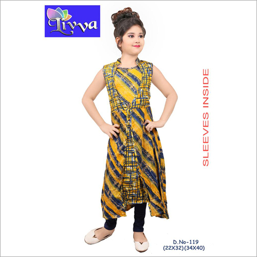 Kids Fashionable Printed Kurti