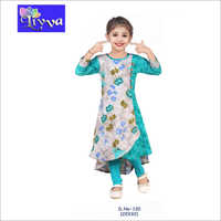 Kids Designer Printed Long Kurti