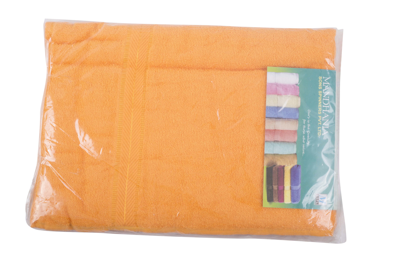 Jumbo 36 x 72 size orange bath towels