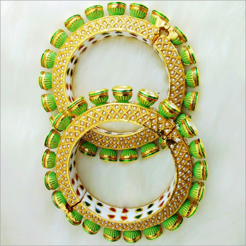 Ladies Beaded Golden Bangles