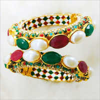 Stone Studded Ladies Bangles