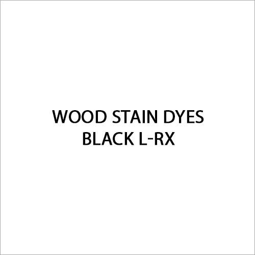 Black L-RX Wood Stain Dyes
