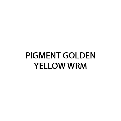 Pigment Golden Yellow WRM
