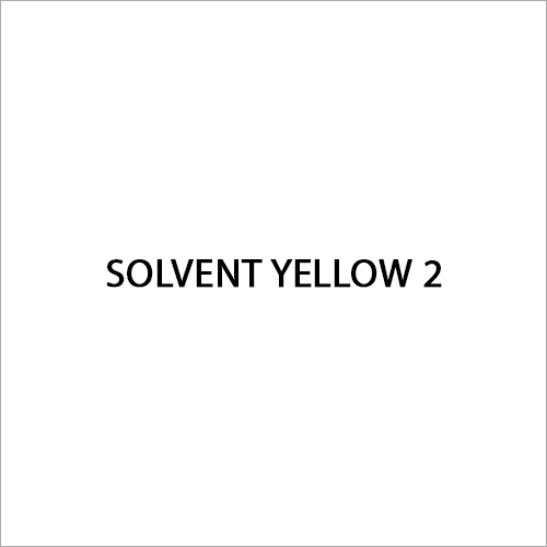 Solvent Yellow 2 Dye