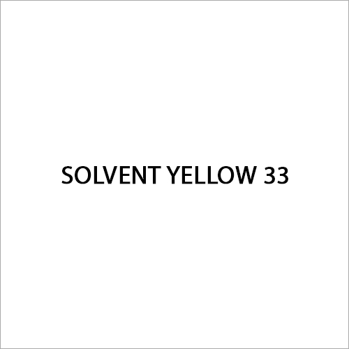 Solvent Yellow 33 Dye