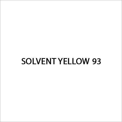 Solvent Yellow 93 Dye