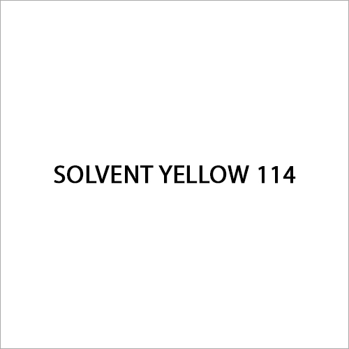 Solvent Yellow 114 Dye