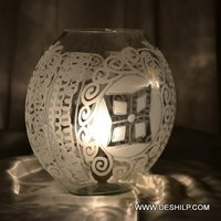 CUTTING GLASS ANTIQUE TABLE LAMP