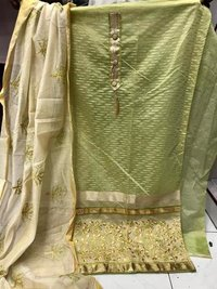 Chanderi Jacquard Dress Material