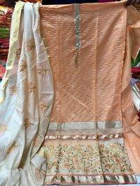 Surat Chanderi Jacquard Dress Material