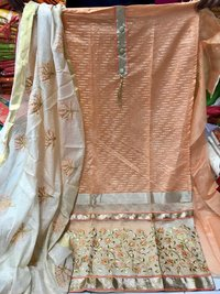 Surat Chanderi Jacquard Dress Material