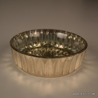 SILVER GLASS ROUND BOWLS