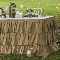 Brown Table Frill