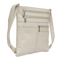 Leather White Messenger Bag