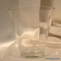 CLEAR GLASS COTTON BIRD HOLDER